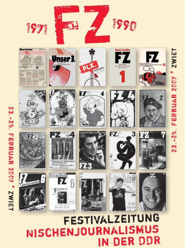 Ausstellungsplakat Festivalzeitung