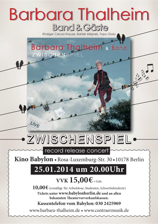 Barbara Thalheim CD-Release