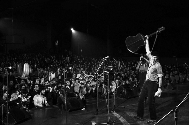 Pete Seeger 1986 in Berlin/DDR; Foto: Thomas Neumann