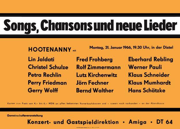 Veranstaltungsplakat 1966