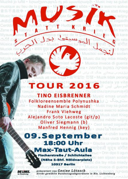 Musik statt Krieg am 9.9.2016 in Berlin